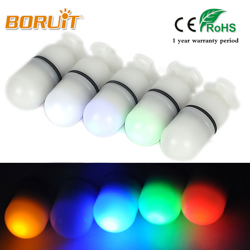 BORUIT 150m Diving LED Signal Light Green Yellow White Red Blue MINI Flashlight Torch signal Underwater Light with LR44 battery цена