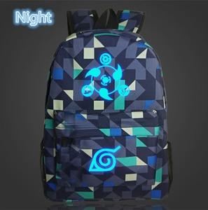 Image 3 - Japan Anime Naruto Backpack Printing Cool Night Lumious School Bag for Teenagers Cartoon Travel Rucksack Oxford Mochila Galaxia