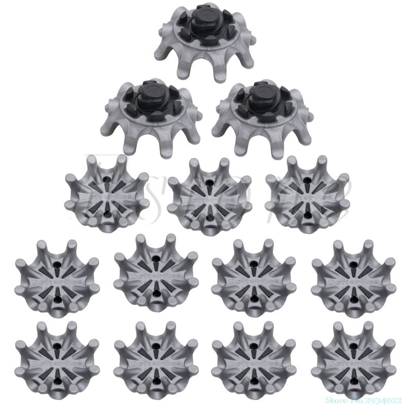 New 14Pcs /set Golf Spikes Pins 1/4 Turn Fast Twist Shoe Spikes Replacement Portable 3 Color Available Drop Ship