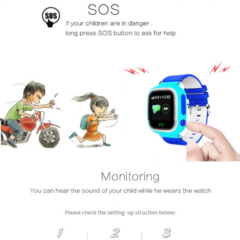 Hold Mi Q90 Child GPS Tracker Watch Phone Positioning Children Watch 1 22  inch Color Touch Screen WIFI SOS Smart Watch Baby-in Smart Watches from