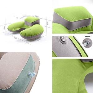 Image 4 - Oreiller gonflable pliable en forme de U, de voyage, en mousse à mémoire de forme, oreiller de voyage Super doux avec avion à Air, livraison directe