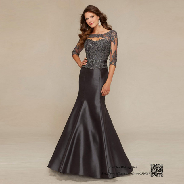 78928fe6b87 Plus Size Mother of the Bride Dresses Champagne Gray Mermaid Godmother Dress  Gowns Vestido de Madrina 2016 Fomal Evening Gowns