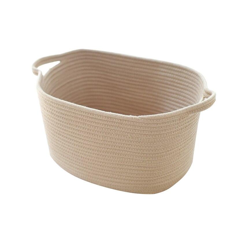 Multicolor Cotton Storage Basket Large Laundry For Clothes Hamper Baskets  For Kids Toys(China (