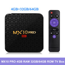 Android 9.0 Caixa de TV 32 4 GB RAM GB/64 GB ROM MX10 PRO Set Top Box 2.4G wiFi Allwinner H6 4 K USB3.0 H.265 VP9 UHD Inteligente Media Player(China)