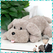 Cute Yuri on ice Victor Puppy Poodle Dog Plush Toy Makkachin Pet Paper Box Keychain Pendant Cosplay Decoration Kids Gift