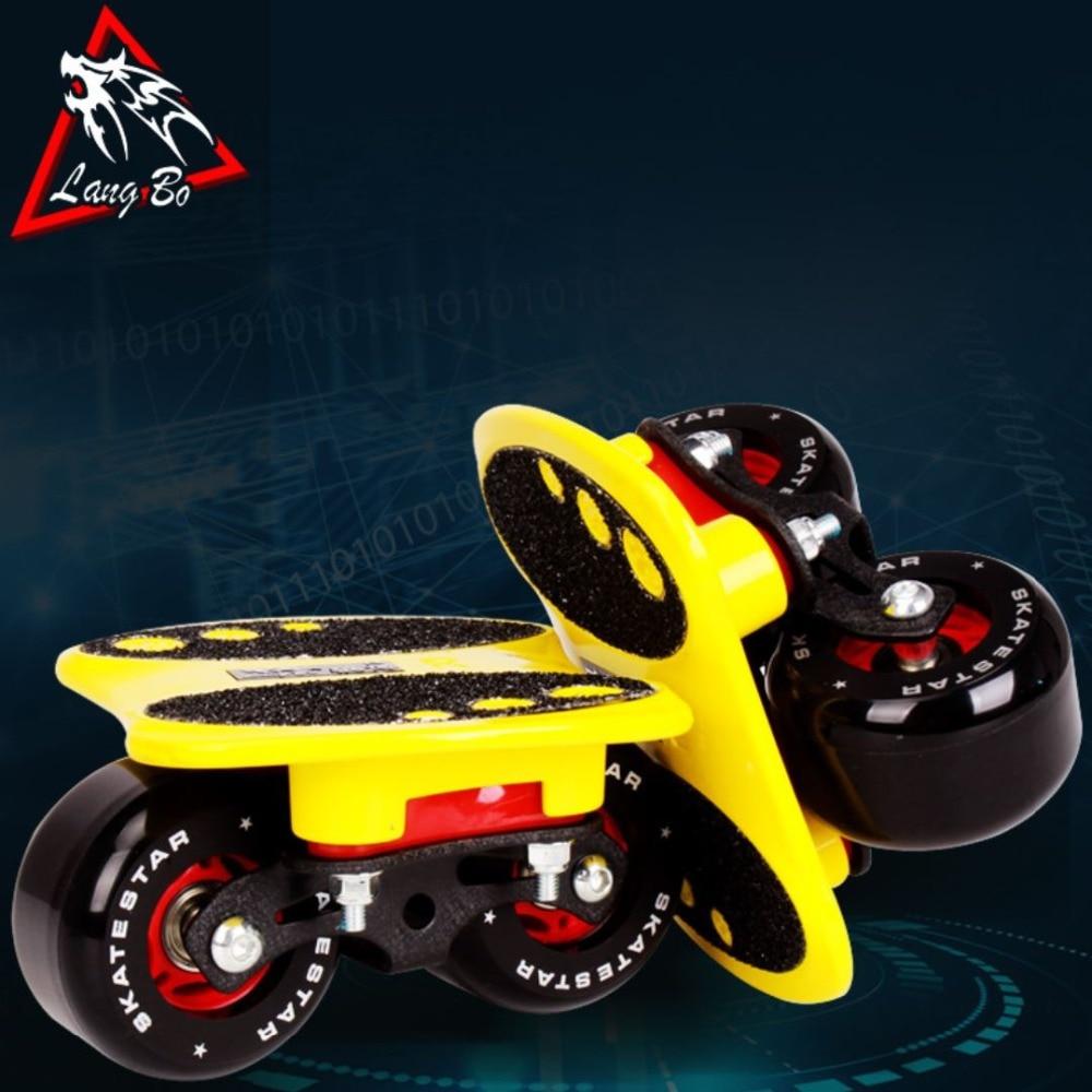 LangBo 10 génération patins à roues libres Anti-choc pad dérive planche gommage alliage d'aluminium Patines 2 roues planche à roulettes FreeStyle - 4