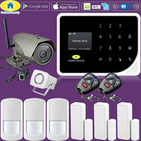 Golden Security S5 Kit 1080P IP Camera WIFI GSM Alarm Systems Security Home APP Control PIR