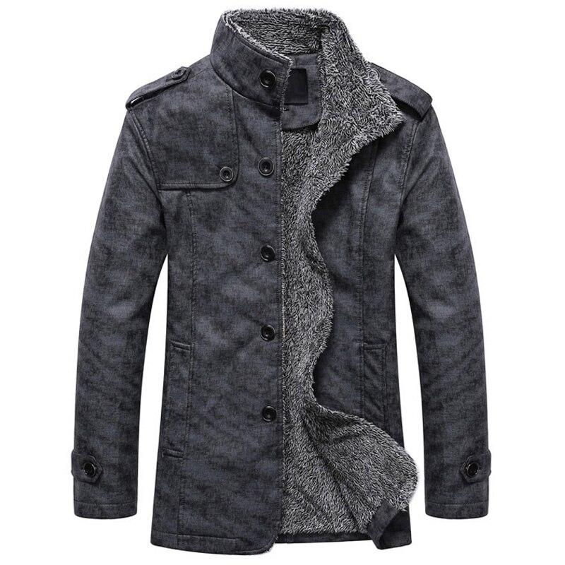 Для мужчин зимняя куртка из искусственной кожи мотоциклетные теплые куртки плюс бархат ветровка мужской повседневное длинное пальт