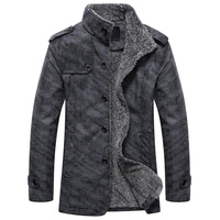 Men's Winter Jacket Men PU Leather Motorcycle Warm Jackets Plus velvet Windbreaker Male Casual Long Coat Men Park male