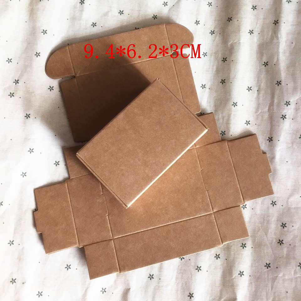 Wholesale 9 4 6 2 3CM Kraft box storage box small jewelry box candy cartridge box
