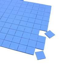 800 шт. 15X15x1 мм синий силиконовый Кондуктивный соединения тепловой коврик для ноутбука IC GPU