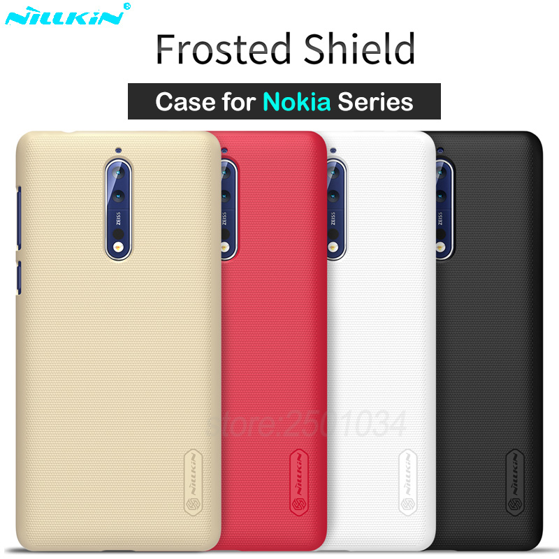 Nillkin Matte Phone Cover Case for Nokia 8 7 5 3 Case PC Hard Back Cover for Nokia 6 2018 Cover Case Gift Screen Protector