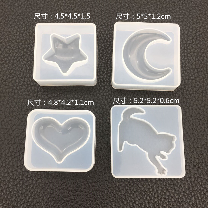 Liquid Silicone Mold For DIY Dried Flower Resin Decorative Craft Moon Star Epoxy Resin Molds For Pendants Jewelry Making