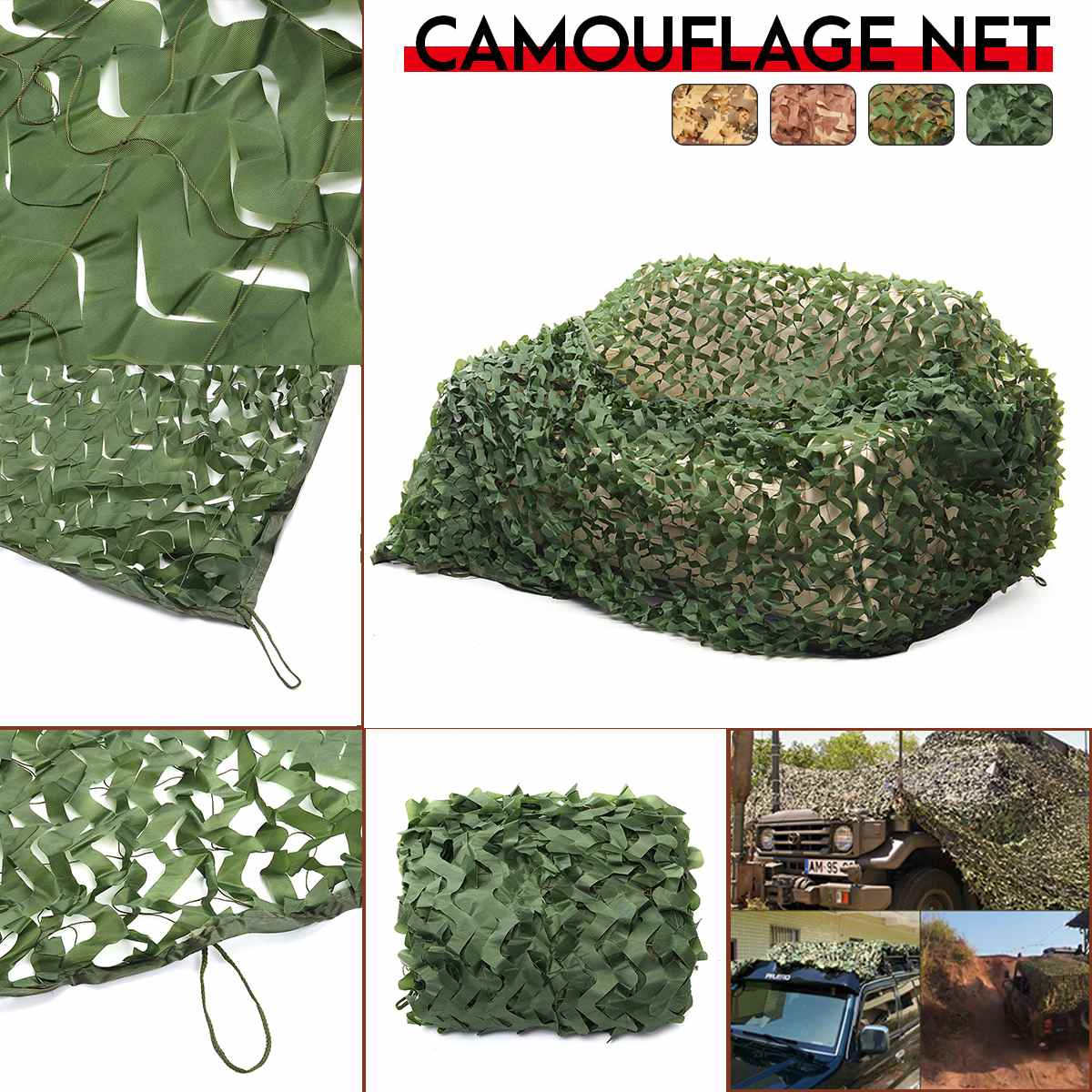 2X 8m/2x 5m/3x 4m/4x5m Doppel Schicht Military Camouflage net Sun Shelter Camo Netting für Jagd Camping Hause Dekoration