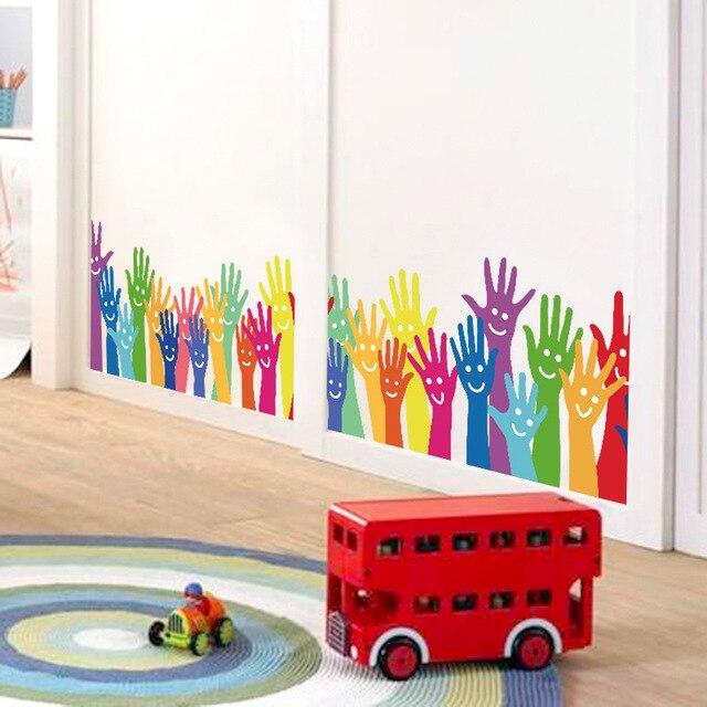 Bella Mano Sorriso Wall Stickers Per Bambini Camera Da Letto ...