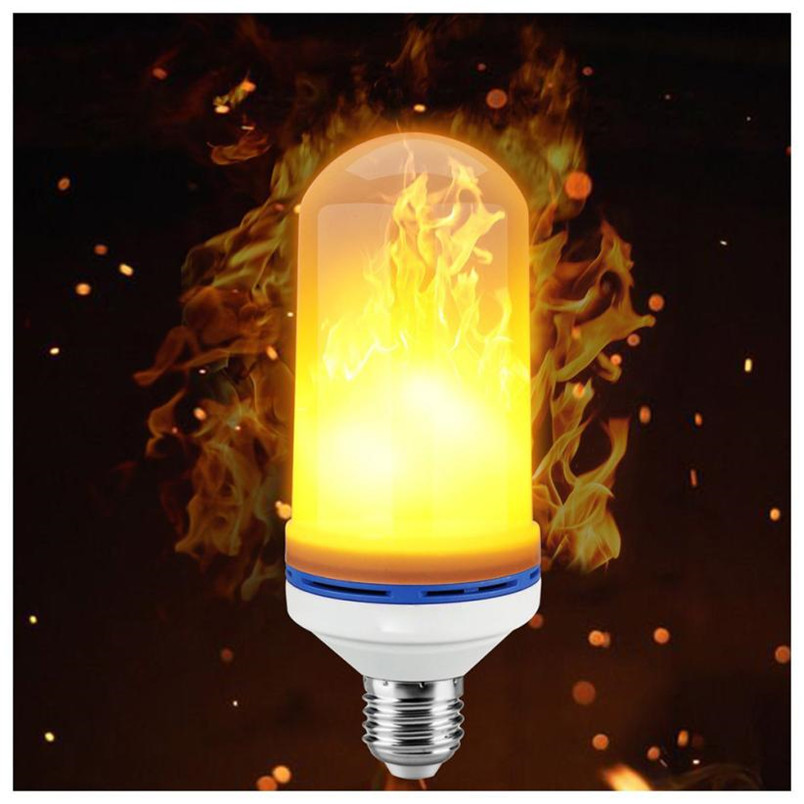 E26/E27 LED Flame Effect Fire Light Bulb Flickering Flame Lamp Simulated Party Decor