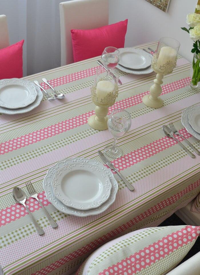 Бесплатная доставка Зеленая волна хлопок розовый пастырской журнальный столик скатерть скатерти точка