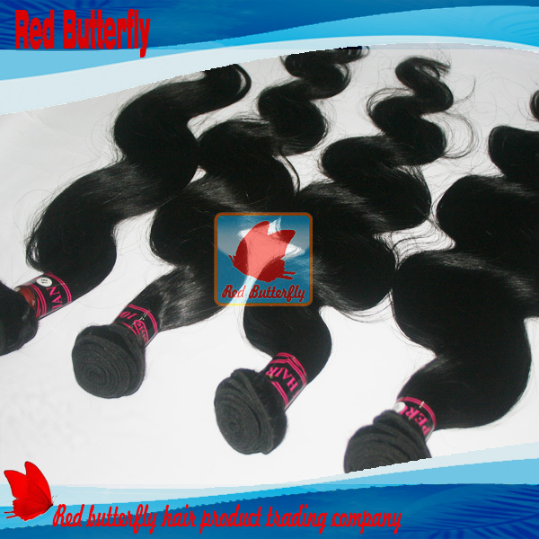 Peruvian hair extensions,body Wave,cheap weaving lot,natural black mix length 12inch-30inch - Red Butterfly Hair Product Trading Company store