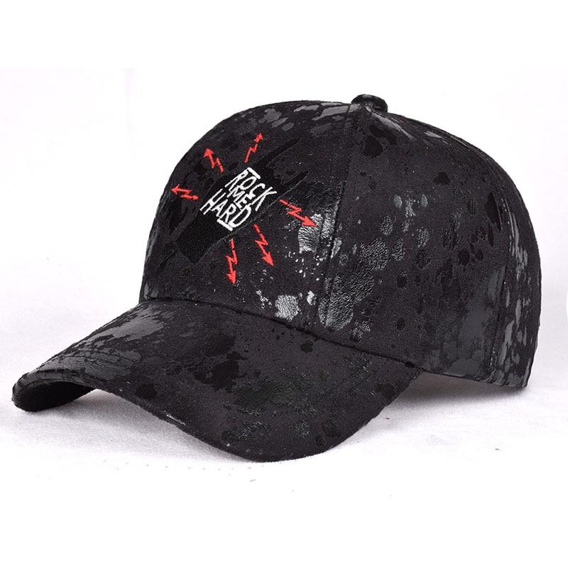 Fashion Brand snapback Baseball Cap Women Gorra cap Street Hip Hop Caps PU leather embroidery Hats for Ladies Rock fan's ha