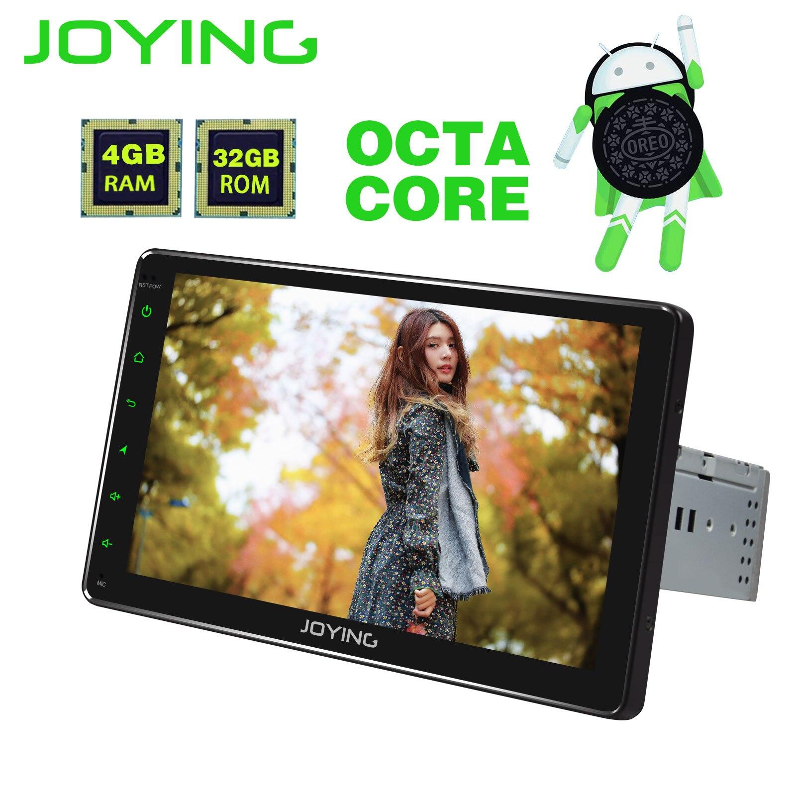 JOYING 4 GB + 32 GB Octa Núcleo Android 8.1 rádio do carro din único comando de voz DSP de áudio estéreo WI-FI unidade de cabeça GPS universal 9