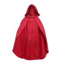 Little Red Riding Hood Costume Girls Red Cap Cloak Children Anime Cosplay Cape Clothing for Kids with Lace Carnival Halloween
