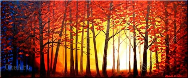 The Forest Warmth oil painting on canvas discount s manufacturers 3 ...