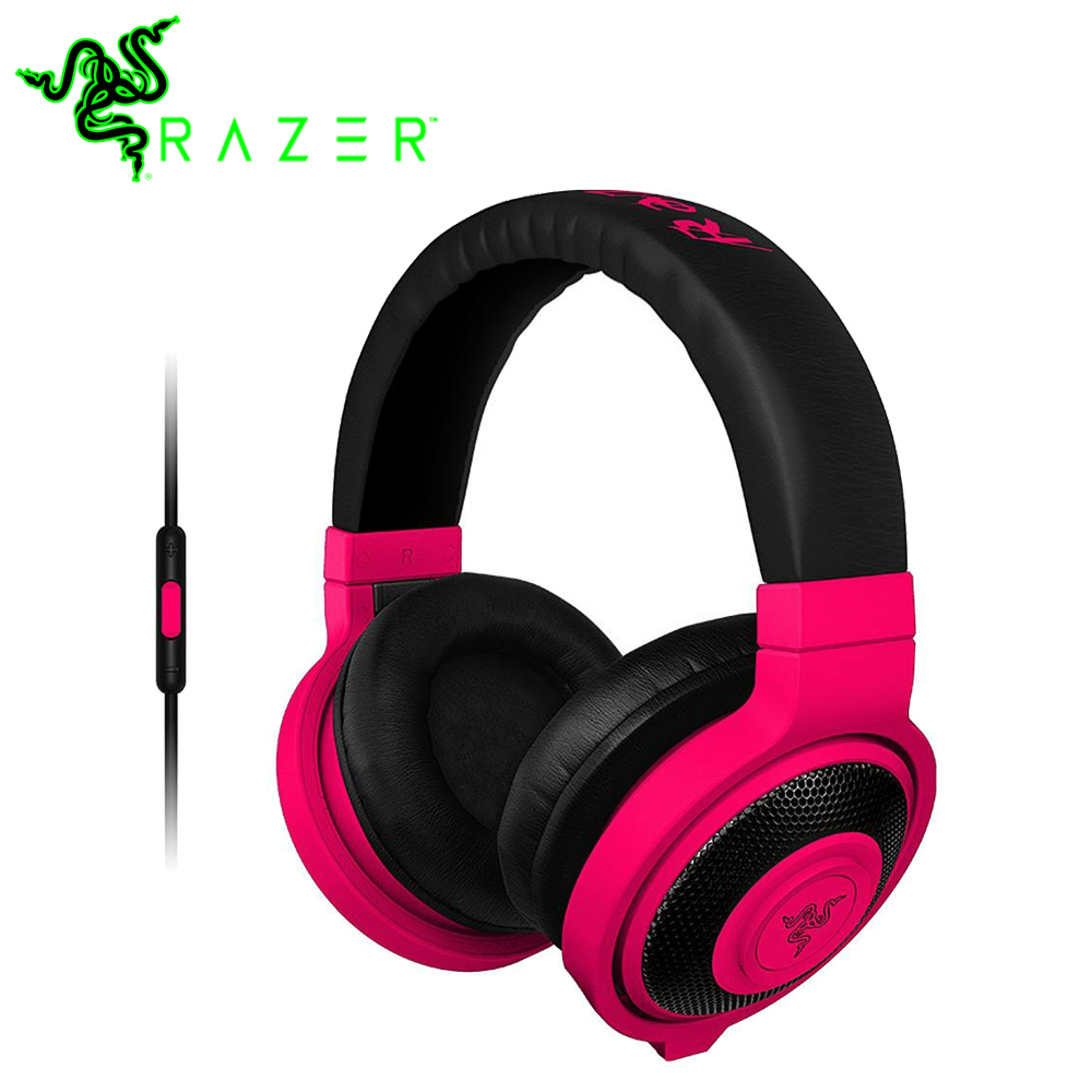 Original Razer Kraken Mobile Analog Music and Gaming Headset 3.5mm with Mic Media Control Remote Gaming Music Headphone Earphone 100% original razer kraken pro gaming headset with wire control headphones