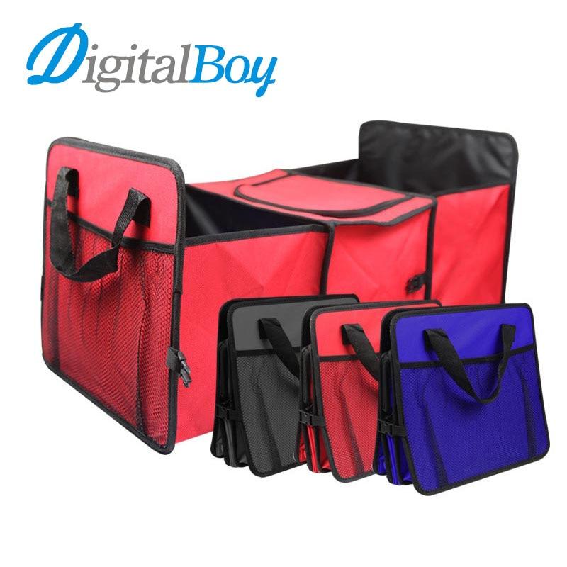 Foldable Car Trunk Storage Basket Bag Oxford Cloth Truck Storage Box Car Tidy Bag Organizer Storage Box Organizer Cooler Bag