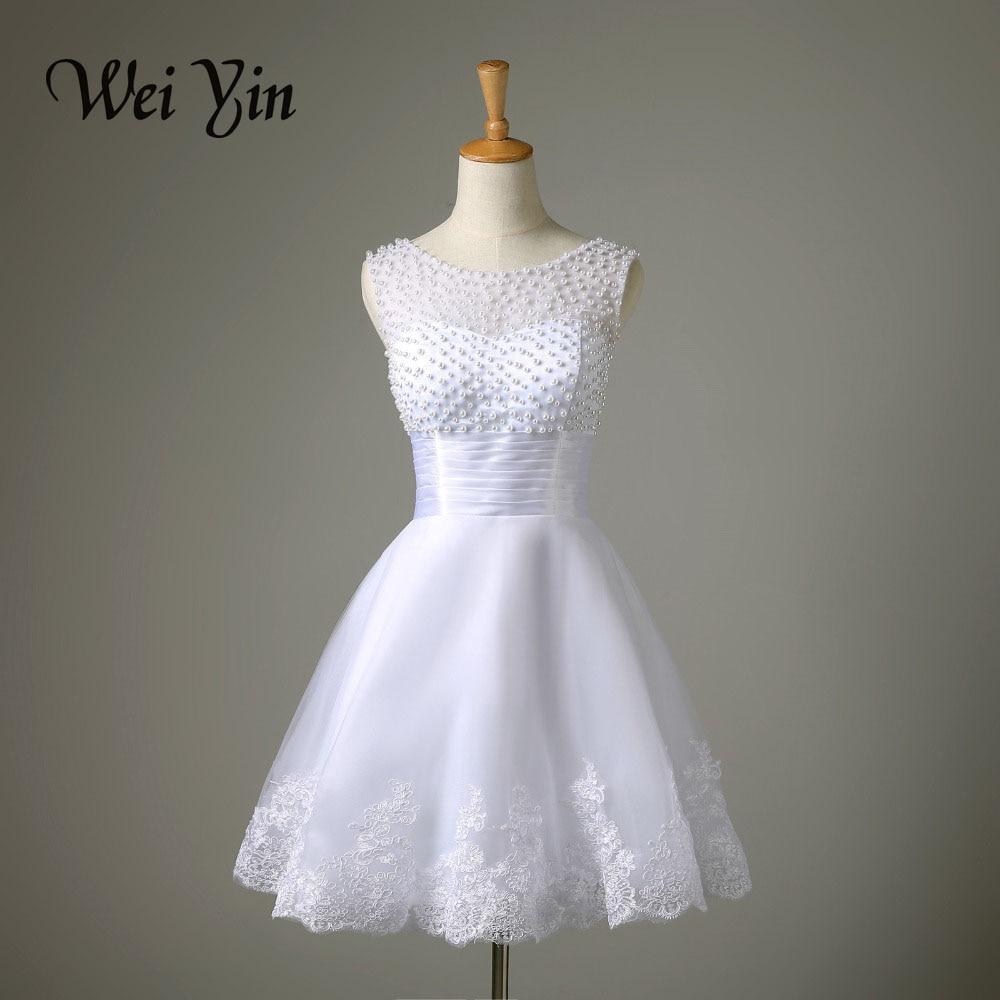 Robe De Mariage New White Ivory Short Wedding Dress The