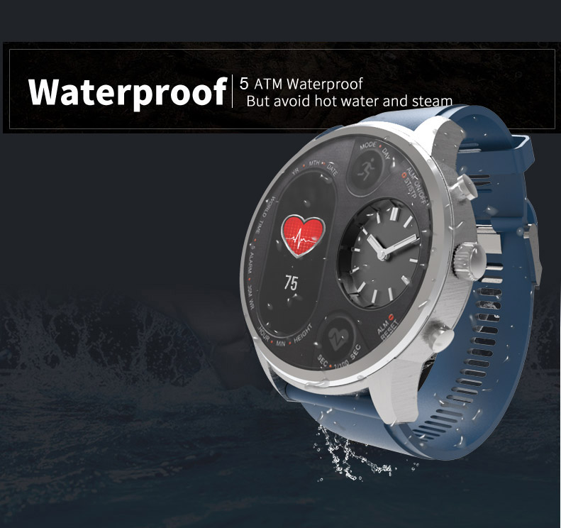 TORNTISC Smart watch T3 5ATM Waterproof Heart Rate Blood Pressure oxygen monitor Smartwatch support Dual time zone One-click hang up Outdoor Sport Smart clock (5)
