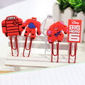 (12 pcs /lots ) Big Hero 6 Baymax Stationery Silicon Paper Clips The Products Of Comic Office Supplies U Clips