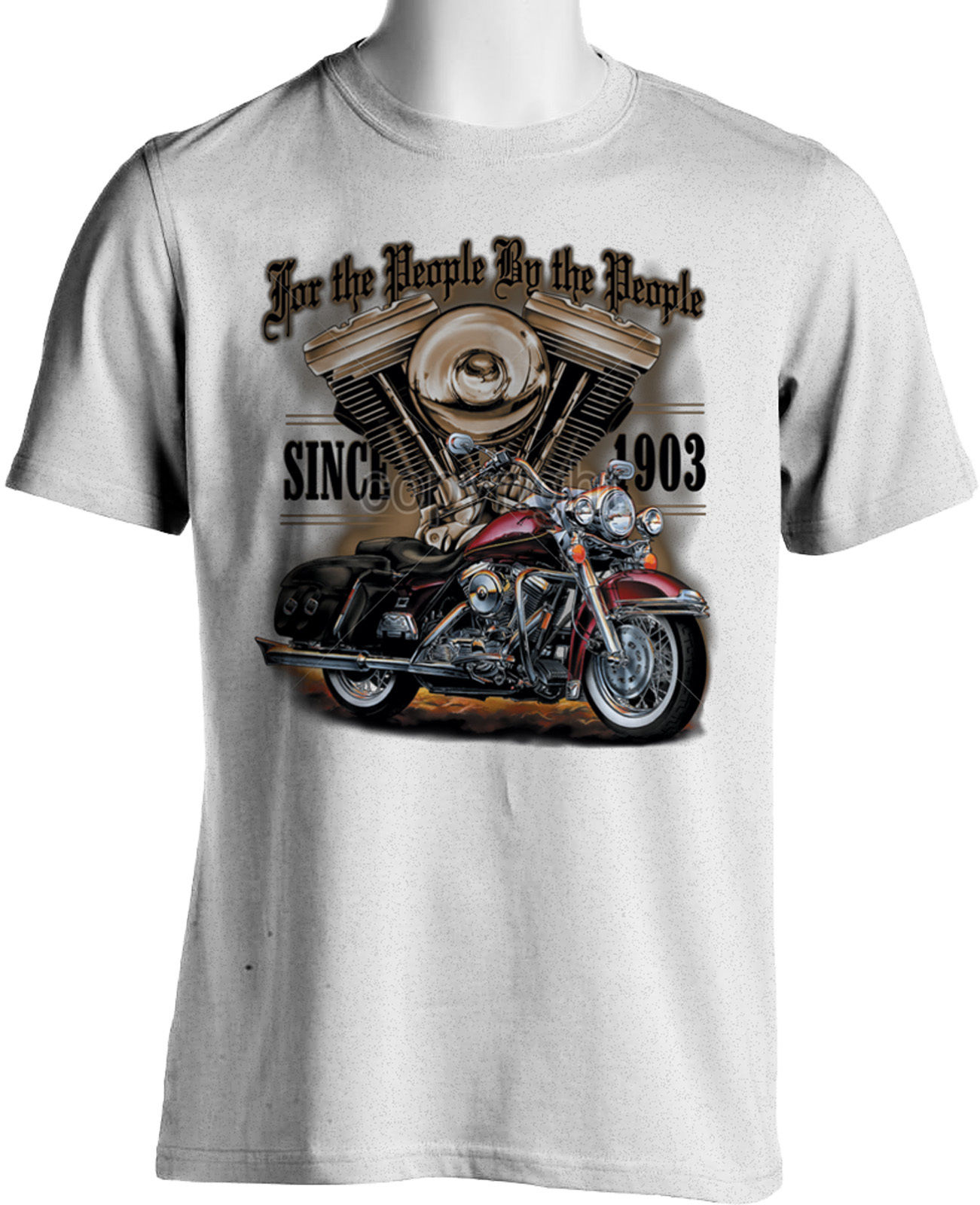 2019 New Summer High Quality Tee Shirt For The People Made By Americans Since 1903 Biker T-Shirts American Motorcycles T-shirt