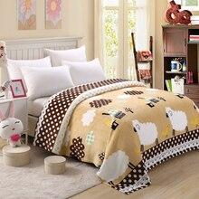 150/180×200 Súper delgada Barato Suave Franela Fleece Blanket para el verano En La Cama Sofá Manta del Tiro nueva Tienda de Venta
