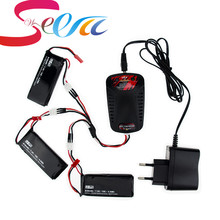 7.4V 610mAh lipo battery 15C batteries JST plug and charger For Hubsan X4 H502S H502E rc Quadcopter drone Parts
