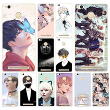 42DF BTS Korea Bangtan Boys Young Hard Transparent Cover Case for Xiaomi Redmi 3S 3Pro 4a 5 plus Note 4 4x 5a 4pro Mi5 mi a1(China)