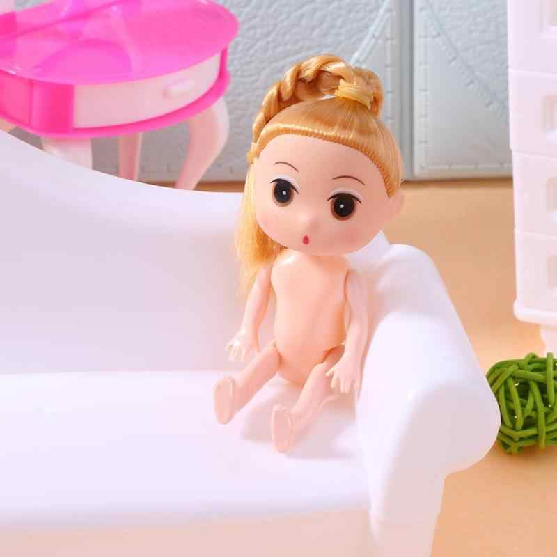 12cm Moveable Joints For Barbi Plastic Princess Baking Cake Doll Toy Doll Body Naked Body For Dolls With Head Female Figure