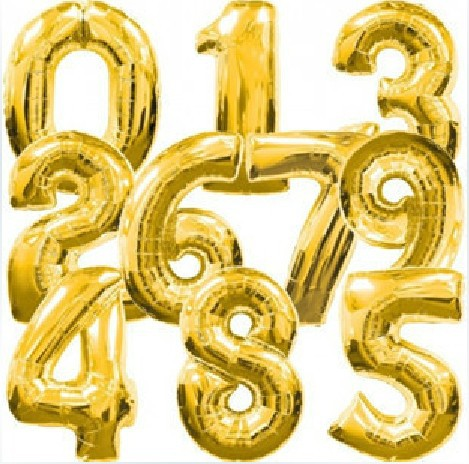 new 30inch 10pcs big gold number letter balloons for party wedding or birthday decorations helium foil