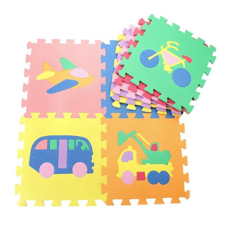 9Pcs/Lot Baby Toys Fruit Animal Traffic Interlock EVA Foam Floor Puzzle Pad Educational Work Gym Mat Kid Safety Play Rug