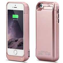 Black Color Battery Charger Case 4200mah Rechargeable Power Cases with Pop-out Viewing Stand for iPhone 5/5C/5S/SE  Plus free