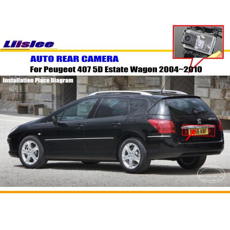 Liislee Автомобильная камера заднего вида для peugeot 407 5D для автомобиля с кузовом универсал 2004~ 2010/камера заднего вида/NTST PAL/светильник номерного знака OEM