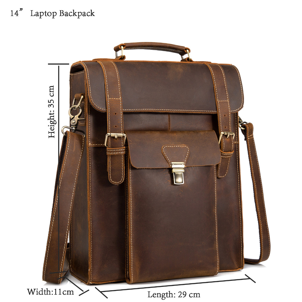 New Design Male Quality Original Leather Casual Fashion Large Capacity Travel School College Bag Backpack Daypack