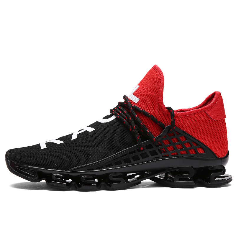 Unisex Mesh Running Shoes Large Size 36-48 Men 2018 Sport Shoes Couples Elastic sole Exercise Lover Outdoor Sneakers Red Black