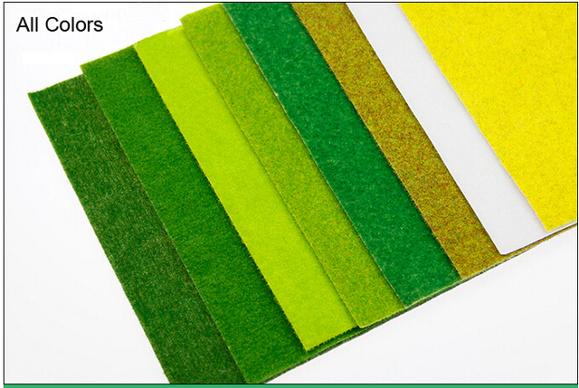 Autumn Green Model grass mat, building model materials, scale models grass mat for 25cm*25cm