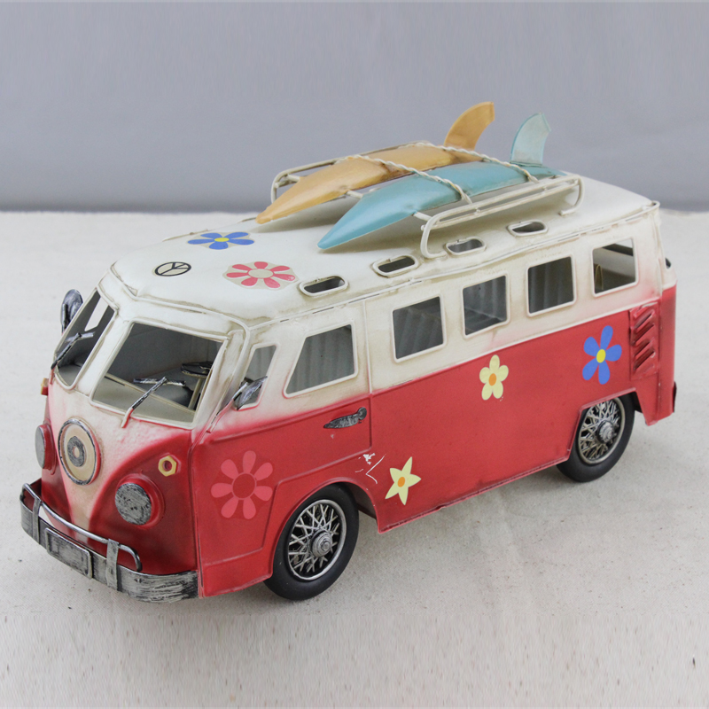 Vintage VW Bus Camper RV Model Manual Metal Classic Car Surf In Math Toys From Hobbies On Aliexpress