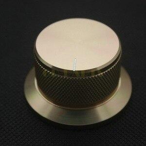 Image 1 - 1 PC 44*25mm złoty anodowane CNC obrabiane stałe aluminiowe pokrętło potencjometru dla DAC CDPlayer wzmacniacz głośnik objętość
