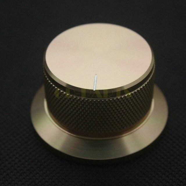 1 PC 44*25mm złoty anodowane CNC obrabiane stałe aluminiowe pokrętło potencjometru dla DAC CDPlayer wzmacniacz głośnik objętość