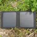 PowerGreen Carregador Carregador Solar de 7 Watts Painel Solar com Duas Portas USB, Célula SUNPOWER Painel Solar, powerbank solar para lg