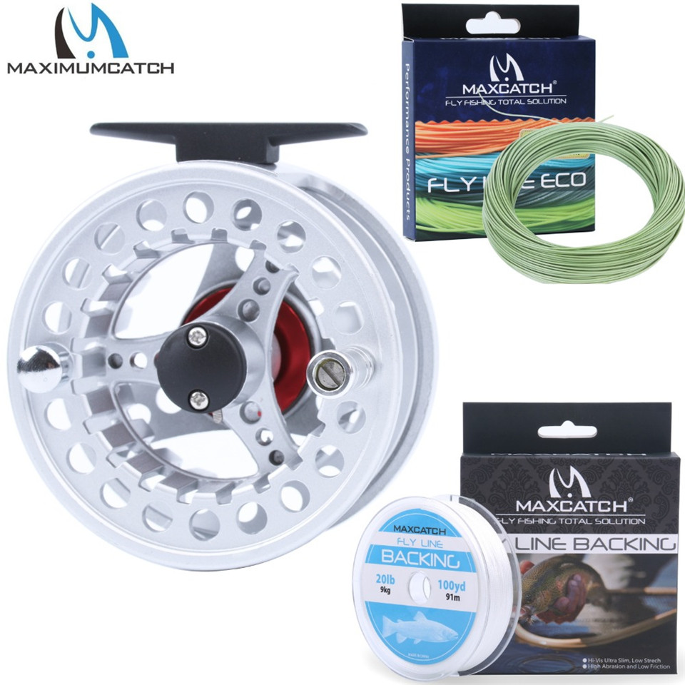 Maximumcatch 3/4/5/6/7/8WT Fly Reel Combo Aluminum Fishing Reel with Weight Forward Floating Line&Tapered Leader&Backing Line 8wt fly rod and reel combo 7 8wt aluminum fly reel fly fishing outfit
