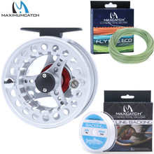 Maximumcatch 3/4/5/6/7/8WT Fly Reel Combo Aluminum Fishing Reel with Weight Forward Floating Line&Tapered Leader&Backing Line