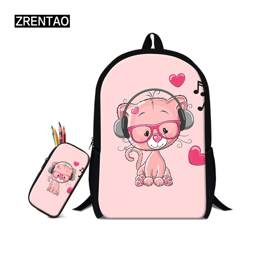 Cartoon Printing backpack for girls Kids School bag Child Plush Backpacks Teenage BoySchoolbag Rucksack Satchel Mochila Infantil